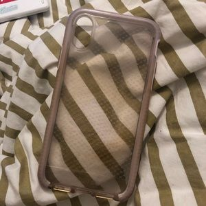 pink transparent phone case